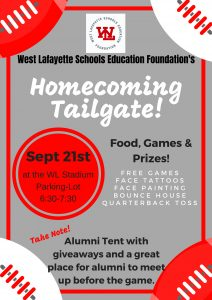 Homecoming Tailgate Flyers