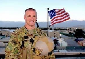 LTC Thiel no helmet American Flag